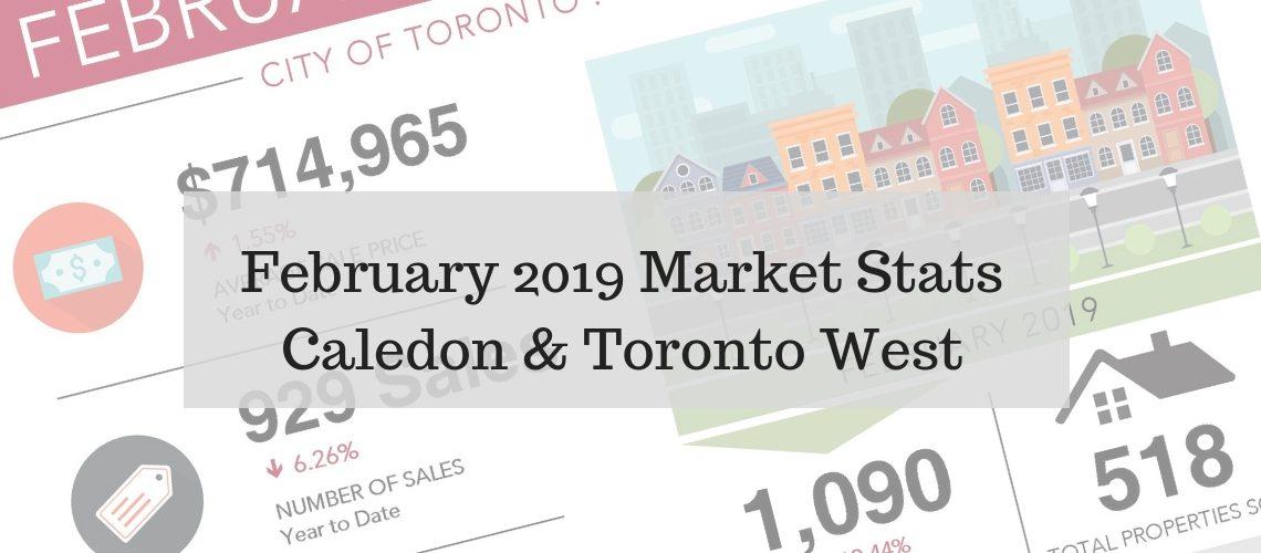 February 2019 Market Stats Caledon & Toronto West