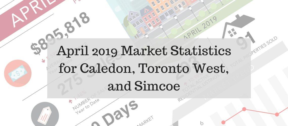 April 2019 Market Statistics for Caledon, Toronto West, and Simcoe
