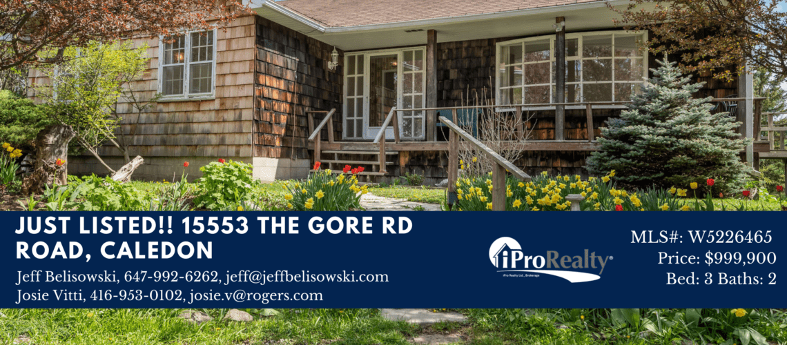 UST LISTED!! 15553 The Gore Rd Road, Caledon