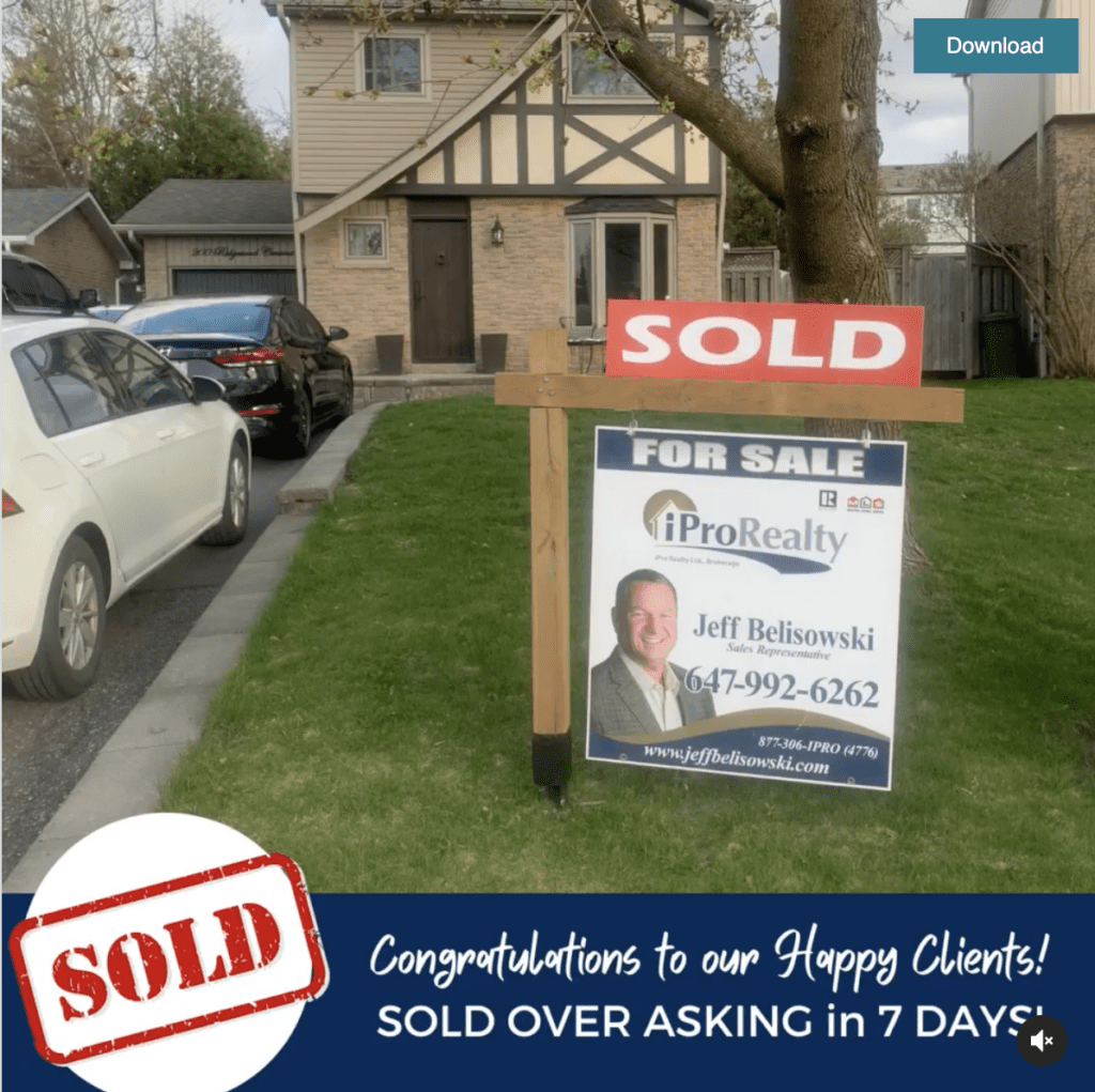 CONGRATULATIONS 💥 to our clients at 200 Ridgewood Crescent in Caledon.