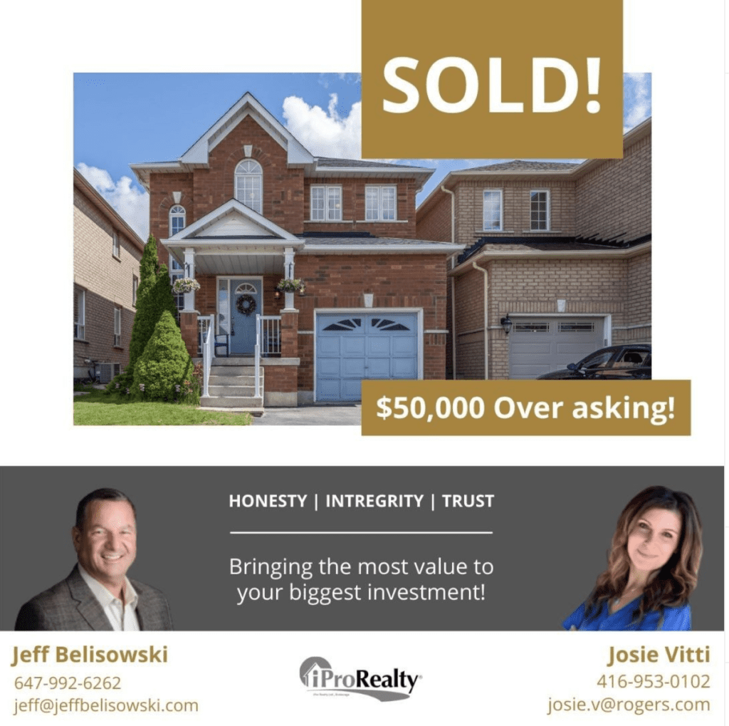 Congratulations to our happy clients on the sale of their home in Brampton.